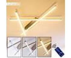 Alberta Lámpara de techo LED Acero inoxidable, 1 luz - 2490 Lumen - Moderno/Diseño/vivienda Juvenil - Zona interior - 3000 Kelvin - 3 o 6 días laborables .