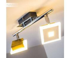 Baramita Lámpara de techo LED Cromo, 2 luces - 940 Lumen - Diseño - Zona interior - 3000 Kelvin - 4 - 8 días laborables .