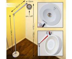 Leticia Lámpara de pie LED Blanca, 1 luz - 500 Lumen - Diseño - Zona interior - 3000 Kelvin - 2 - 4 días laborables .
