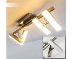 Sakami Lámpara de techo LED Níquel-mate, 4 luces - 700 Lumen - Diseño - Zona interior - 3000 Kelvin - 2 - 4 días laborables .