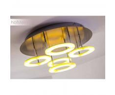 Cayenne Lámpara de techo LED Níquel-mate, Cromo, 5 luces - 850 Lumen - Diseño - Zona interior - 3000 Kelvin - 4 - 8 días laborables .