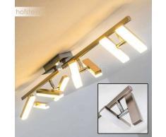 Sakami Lámpara de techo LED Níquel-mate, 8 luces - 1400 Lumen - Diseño - Zona interior - 3000 Kelvin - 4 - 8 días laborables .