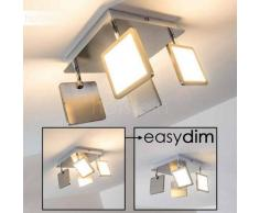 Leamington Lámpara de techo LED Níquel-mate, 4 luces - 500 Lumen - Moderno - Zona interior - 3000 Kelvin - 4 - 8 días laborables .