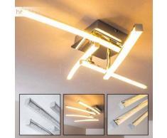 Georgina Lámpara de techo LED Cromo, 4 luces - 1200 Lumen - Diseño - Zona interior - 3000 Kelvin - 4 - 8 días laborables .