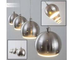 Wabana Lámpara colgante LED Níquel-mate, 4 luces - 1880 Lumen - Moderno/Diseño - Zona interior - 3000 Kelvin - 4 - 8 días laborables .