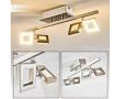 Paul Neuhaus TWINS Lámpara de techo LED Acero inoxidable, 4 luces - 230 Lumen - Moderno/Diseño/vivienda Juvenil - Zona interior - 3000 Kelvin - 3 o 6 días laborables .