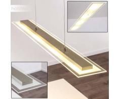 Leuchten-Direkt DANYL Lámpara colgante LED Acero inoxidable, 4 luces - 240 Lumen - Moderno/Diseño - Zona interior - 3000 Kelvin - 2 - 4 días laborables .