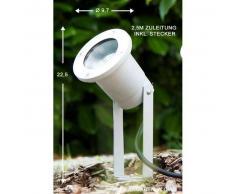 Pilsen Foco proyector jardin Plata, 1 luz - - Moderno/Diseño - Zona exterior - - 3 o 6 días laborables .