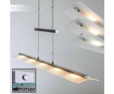 Conmee Lámpara colgante LED Níquel-mate, 5 luces - 2470 Lumen - Moderno - Zona interior - 2700/4000/3350 Kelvin - 2 - 4 días laborables .