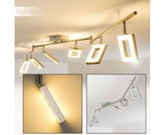 Rautas Lámpara de Techo LED Níquel-mate, Cromo, 6 luces - 2280 Lumen - Moderno - Zona interior - 3000 Kelvin - 4 - 8 días laborables .