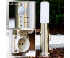 Caserta Lámpara de pie para exterior Acero inoxidable, 1 luz - - Moderno/Diseño - Zona exterior - - 4 - 8 días laborables .