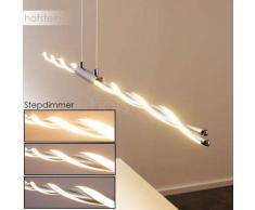CARMACKS Lámpara colgante LED Cromo, 4 luces - 700 Lumen - Moderno - Zona interior - 3000 Kelvin - 2 - 4 días laborables .