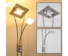 KIMBA Lámpara de pie LED Níquel-mate, 3 luces - 1650/350 Lumen - Diseño - Zona interior - 3000 Kelvin - 2 - 4 días laborables .