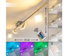 Ritsem Lámpara de Techo LED Níquel-mate, Cromo, 4 luces - 1200 Lumen - Moderno - Zona interior - 3000/RGB Kelvin - 4 - 8 días laborables .
