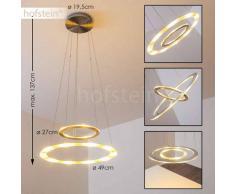 Rexton Lámpara colgante LED Níquel-mate, Cromo, 2 luces - 1440/2900 Lumen - Moderno - Zona interior - 3000 Kelvin - 2 - 3 semanas .