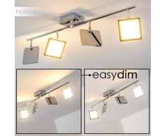 Cassiar Lámpara de techo LED Cromo, 4 luces - 2000 Lumen - Diseño - Zona interior - 3000 Kelvin - 4 - 8 días laborables .