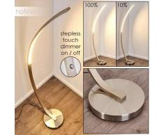 Kimbolton Lámpara de Pie LED Níquel-mate, 1 luz - 1000 Lumen - Diseño - Zona interior - 3000 Kelvin - 3 o 6 días laborables .