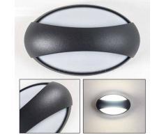 KIBY Aplique para exterior LED Antracita, 3 luces - 280 Lumen - Moderno - Zona exterior - 4100 Kelvin - 2 - 4 días laborables .