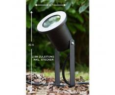 Pilsen Foco proyector jardin Negro, 1 luz - - Moderno/Diseño - Zona exterior - - 2 - 4 días laborables .