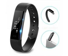 ID115 Touch Screen Fitness Tracker reloj pulsera inteligente - Negro