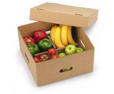 Caja para expedición de frutas y verduras con tapa y separadores
