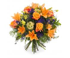 Ramo especial con rosas naranjas - Flores a Domicilio