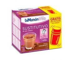 Bimanán Línea BATIDO CHOCO AND LATTE 5 Sobres de 30g + COCTELERA