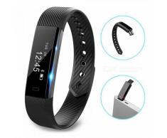 ID115 Touch Screen Fitness Tracker reloj pulsera inteligente - Negro