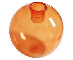 Maisons du monde Candelabro de cristal tintado naranja BUBBLE POP