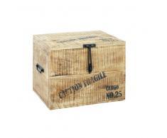 Maisons du monde Baúl de madera An. 47 cm CARGO