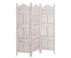 Maisons du monde Biombo de madera gris An. 150 cm MILLE ET UNE NUIT