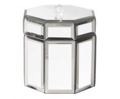Maisons du monde Joyero con espejo de cristal