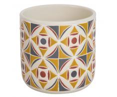 Maisons du monde Macetero de cerámica con motivo de azulejos de cemento Alt. 13