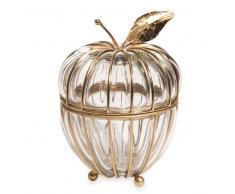 Maisons du monde Joyero de manzana de cristal y metal APPLE GLASS