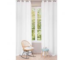 Maisons du monde Cortina con ojales de lino lavado blanco 130 x 300 cm