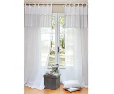 Maisons du monde Cortina de nudos de algodón blanco 140 x 250 COTON D'AUTREFOIS