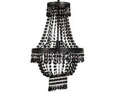 Maisons du monde Lámpara de araña con lágrimas de metal negro