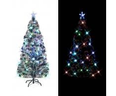 vidaXL Árbol artificial de Navidad soporte acero/luces LED 210cm 280 ramas