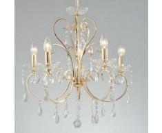 Lámpara de araña - cristal barroco con Colgantes dorado - Pavia