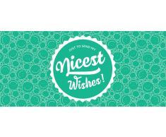 """Piccantino Nicest Wishes! - Vale de Regalo de Papel Reciclado Ecológico - """"Nice Wishes"""" Vale"""