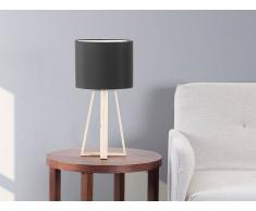 Beliani Lámpara De Mesa - Lámpara De Noche - Negro - Korana (27484)