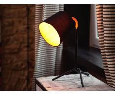 Beliani Lámpara De Mesa - Iluminación De Noche - Acero - Negro - Mooki (50437)