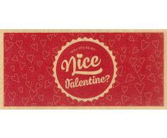 """VitalAbo Nice Valentine - Vale de Regalo de Papel Reciclado Ecológico - """"Nice Valentine"""" Vale"""