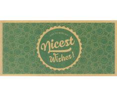 VitalAbo Nicest Wishes! - Vale de Regalo de Papel Reciclado Ecológico - Nicest Wishes! - Vale para Imprimir