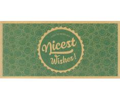 Ecco Verde Nicest Wishes! - Tarjeta Regalo de Papel Reciclado Ecológico - 1 unidad