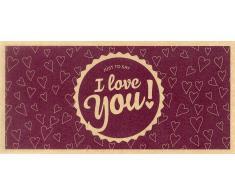 Ecco Verde I Love You! - Tarjeta Regalo de Papel Reciclado Ecológico - I Love You! - Vale de Regalo