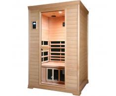 HealthYUKANE Sauna Infrarrojos 2 Plazas Baja Radiación Electromagnética en Hemlock