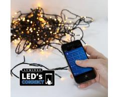 Eminza Guirnalda luminosa Bluetooth 13,50 m Blanco cálido 180 LED