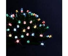 Eminza Guirnalda luminosa Solar 10 m Multicolor 100 LED