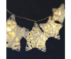 Eminza Guirnalda luminosa Estrella fugaz Blanco cálido 10 LED